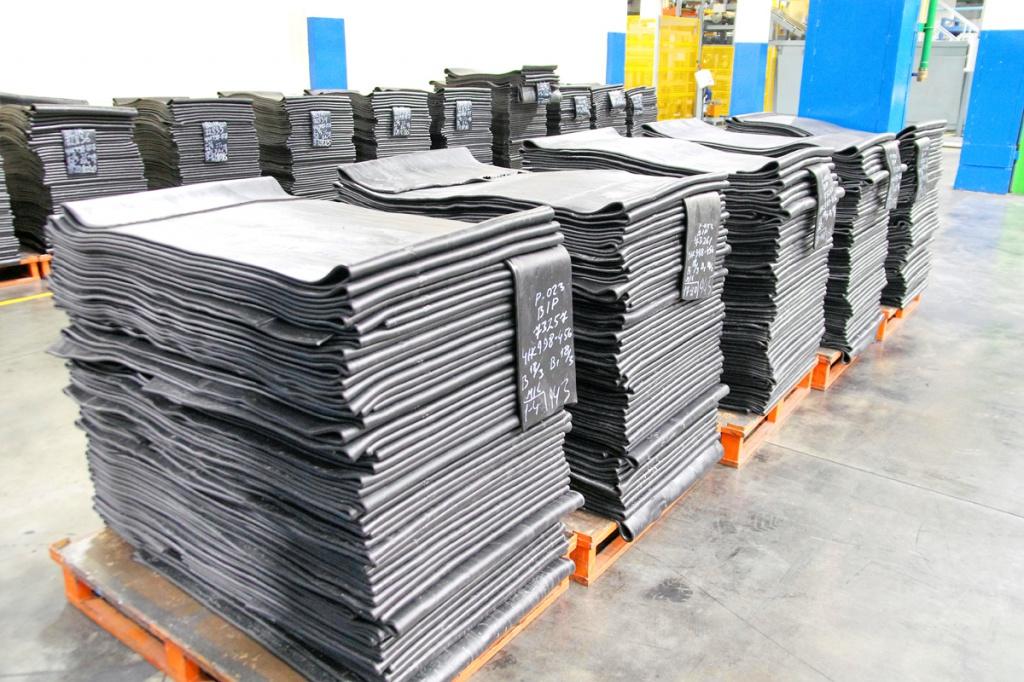 Склад хранения готовых резиновых смесей в подготовительном цехе